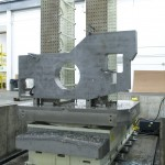 Lindquist produces large nuclear energy parts, including frames, large castings and fabricated bases that are more than 9 m (30 ft) long, 4.3 m (14 ft) tall and weigh more than 13.6 t (15 tons). Tolerances for these parts are ±0.0008 in over 100 in.(Click on photo to enlarge it)