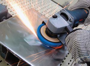 Non Woven Abrasives Expand Right Angle Grinding