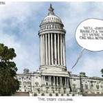 Our country does not need more taxes. Instead, it needs for the President and the remaining Democrats in Congress to fess up and accept cuts in spending that the nation can no longer afford.(Illustration courtesy of Michael Ramirez, Creators.com, as seen in The Patriot Update)