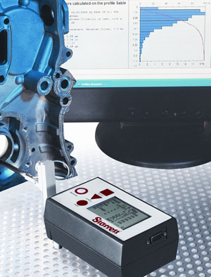 The SR200 Surface Roughness Tester from L.S. Starrett can be used either freestanding or bench-mounted with fixturing to measure steps, bores, grooves and lands.