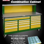 The new MM10 Combination Cabinet from Stor-Loc uses drawers that can be subdivided into storage compartments of any size for tools and instruments, inspection and assembly, or for spare part storage.