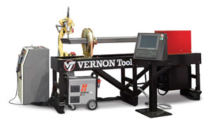 The RAZOR robotic tube cutting and profiling system from Vernon Tool is ideal for high-production tube and pipe fabricators in heavy fabrication, agricultural, construction, vehicle and tube frame manufacturing.