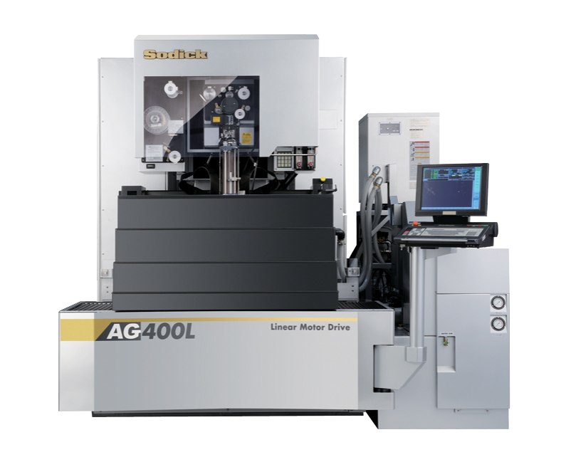 An AG400L 5-axis Wire EDM from Sodick is ideal for small to medium sized parts and molds that require close tolerances and fine surface finishes.(Click on photo to enlarge it)