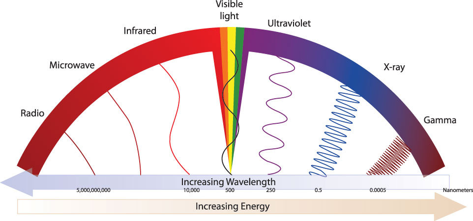 the effect of different wavelenghts of Effect of wavelength or any similar topic specifically for you the effectiveness of different pigments to absorb light energy is particular to different wavelengths and light intensities in sum, absorption light at wavelengths ranging at 450 and at 650 would have faster photosynthetic rates.