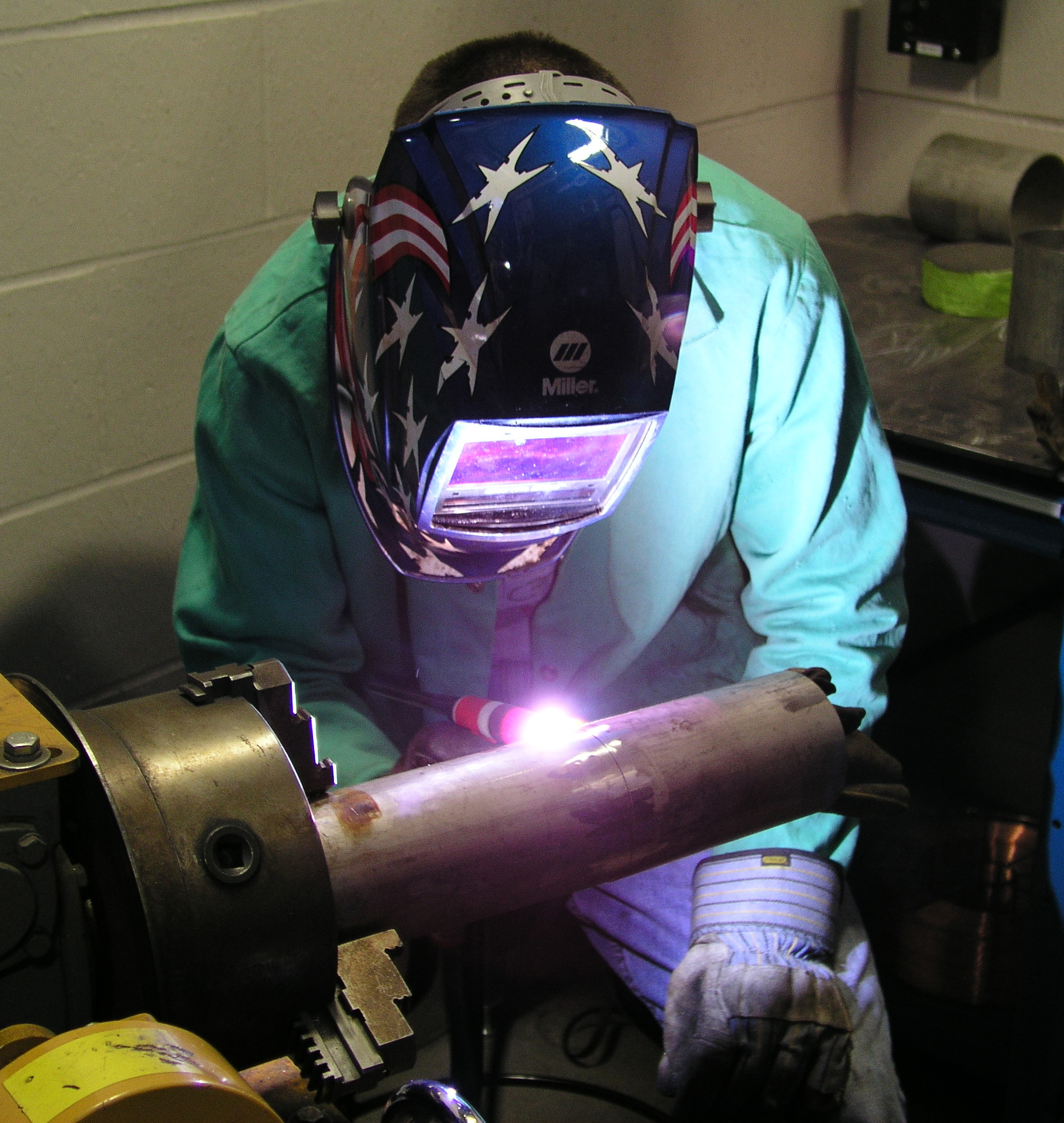 Secondary education and experience in welding can lead to a number of well-paying jobs, including welding engineers, Certified Welding Inspectors (CWI) and certified welders that can earn wages well above the median household income in the U.S. and, in some cases, as much as six figures each year.(Click on photo to enlarge it)