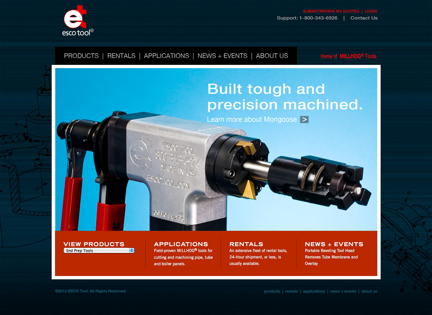 The new website uses an expanded search to select tools based upon product type, tool model, and tube size or application of the tool. Easy to filter, the search then offers a choice of tools to select from, provides photos of each, then a page for each with a detailed description, key features, specifications, application photos, a parts list, options, ordering information, and an easy RFQ capability.(Click on screen shot to enlarge it)