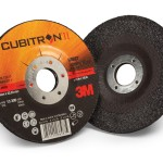 Cubitron II abrasives surpass traditional grinding wheels made with aluminum oxide, alumina zirconia or ceramic grain. Competitive products require up to 3X the amount of pressure to match the cut of these abrasives. Operators are subjected to less wear and tear, and can remove more material with the same amount of effort.(Click on photo to enlarge it)