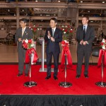DMG/Mori Seiki USA marked the grand opening of Mori Seiki Manufacturing with a ceremonial ribbon cutting at the Davis plant.(Click on photo to enlarge it)