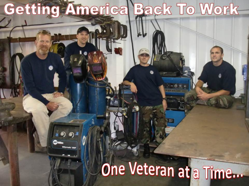 109 veterans have been enrolled into Workshops for Warriors so far. Of these, 59 have graduated and 146 total certificates have been received by veterans in the program. The organization currently has 369 veterans on the welding waiting list, and 137 waiting on the machining class.(Click on photo to enlarge it)