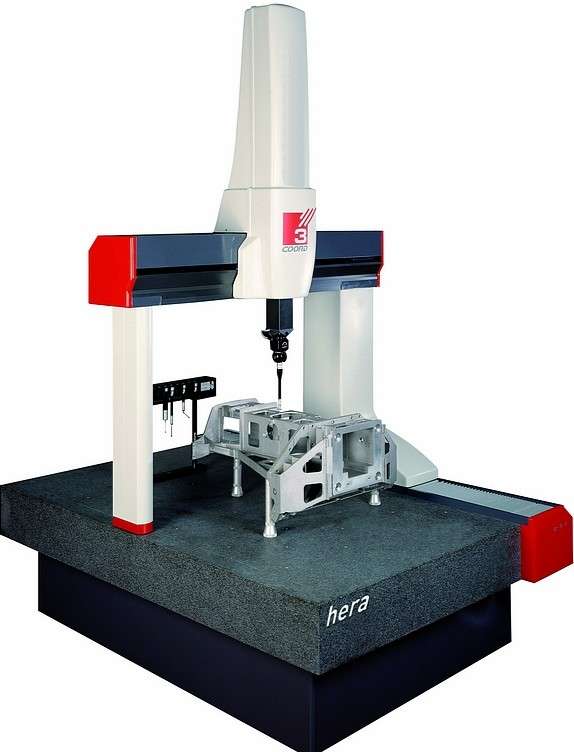 Coord3 offers a variety of coordinate measuring machines, such as this Hera 15.9.7 bridge CMM.(Click on photo to enlarge it)