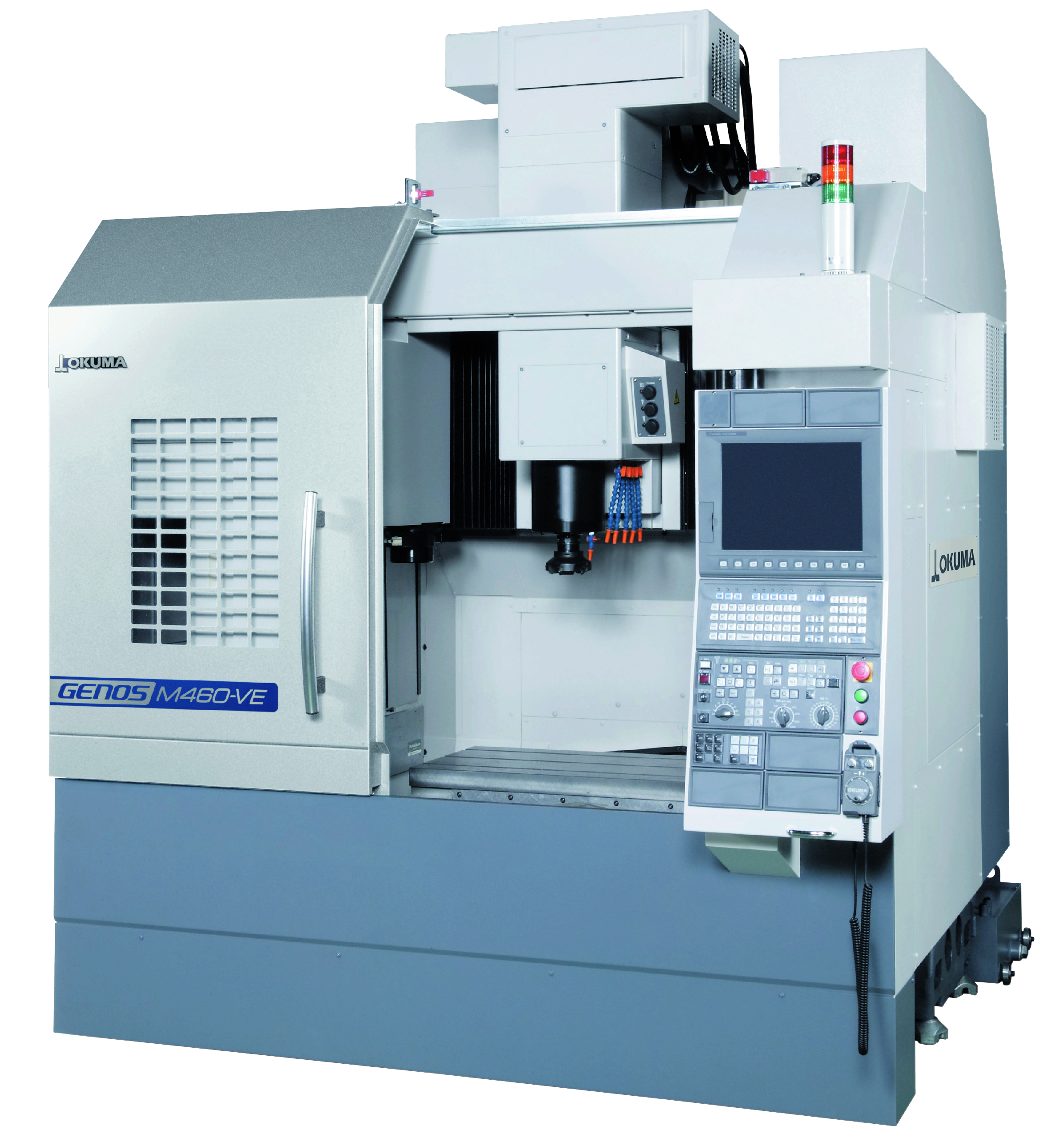 Equipped with THINC®-OSP control, the GENOS M-460V uses Machining Navi M-g and a 4th/5th axis Nikken table with Hexagon Metrology gauging.(Click on photo to enlarge it)