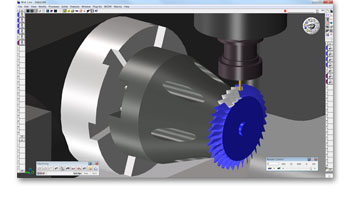 The Student Edition of GibbsCAM enables students to learn and practice NC programming, and gain familiarity with common configurations of CNC machine tools, on their home-based PCs. It includes solid modeling, 3D milling and turning, and polar and cylindrical (rotary), plus machine simulation and the ability to read ACIS and SAT files, such as SolidWorks and AutoDesk Inventor.(Click on photo to enlarge it)