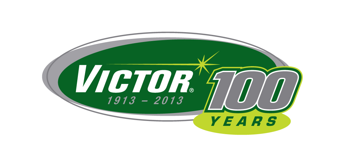 Victor's 100th anniversary logo.(Click on photo to enlarge it)