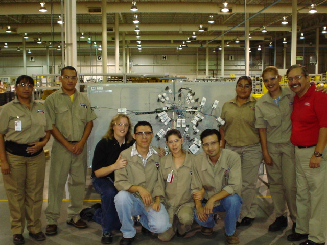 The staff at the Lincoln Electric facility in Torreon, Mexico.(Click on photo to enlarge it)
