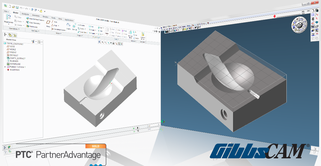 The company also announced availability of GibbsCAM 2013, with all its functionality integrated with PTC Creo 2.0. PTC Creo users are assured compatibility with it since Gibbs incorporates the PTC GRANITE 3D library for CAD file interoperability.(Click on photo to enlarge it)