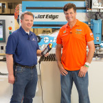 MWR Chief Technical Officer Tom German with Michael Waltrip.(Click on photo to enlarge it)