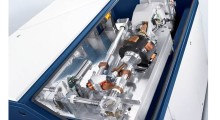 Figure 1. This photo shows the construction of a solid-state laser welding system that optically focuses the laser beam on the workpiece surface to be welded. (Photo courtesy of Trumpf)