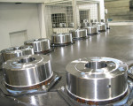Automated production at Precima includes batch sizes of 2,000 brake housings per week.