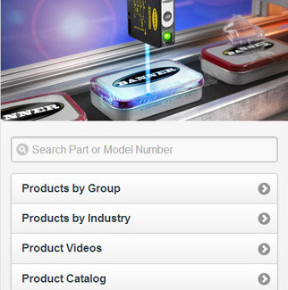 A robust part/model number search function on the mobile home and all other mobile web pages allows visitors to find content ranging from model-specific specifications, CAD files and diagrams to product images, literature and accessories.(Click on photo to enlarge it)