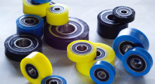 Urethane covered bearing rollers from Fixtureworks.