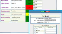 Screen shot of Manufacturing Cloud ERP software from Plex Systems.