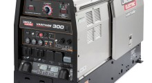 The Vantage 300 also delivers three-phase, 240-volt AC generator power, with a 12.5-kilowatt peak (11-kilowatt continuous), for equipment such as plasma cutters, pumps or inverter welders, among other common construction tools. It also delivers 3,500 watts while welding at 250 amps.