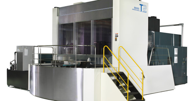 The T2 can be integrated with an automatic pallet transfer and storage system in a highly flexible Makino Machining Complex (MMC) for extended periods of unattended operation. This automation system assigns work and initiates operations automatically, maximizing spindle utilization for increased productivity.