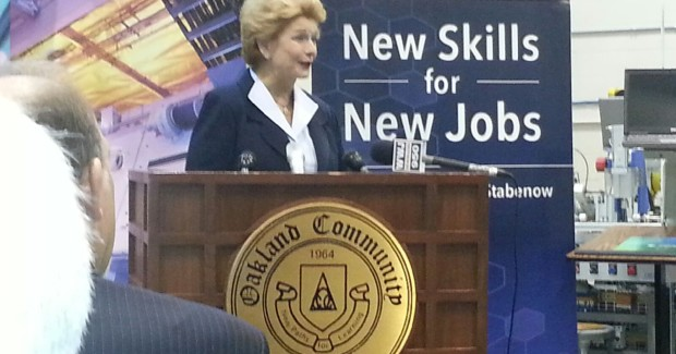 Senator Stabenow is introducing legislation in Congress, called the New Skills for New Jobs Act, which would involve federal matching funds to support Michigan and other states that have already begun helping community colleges with local businesses to create more job training and retraining opportunities.