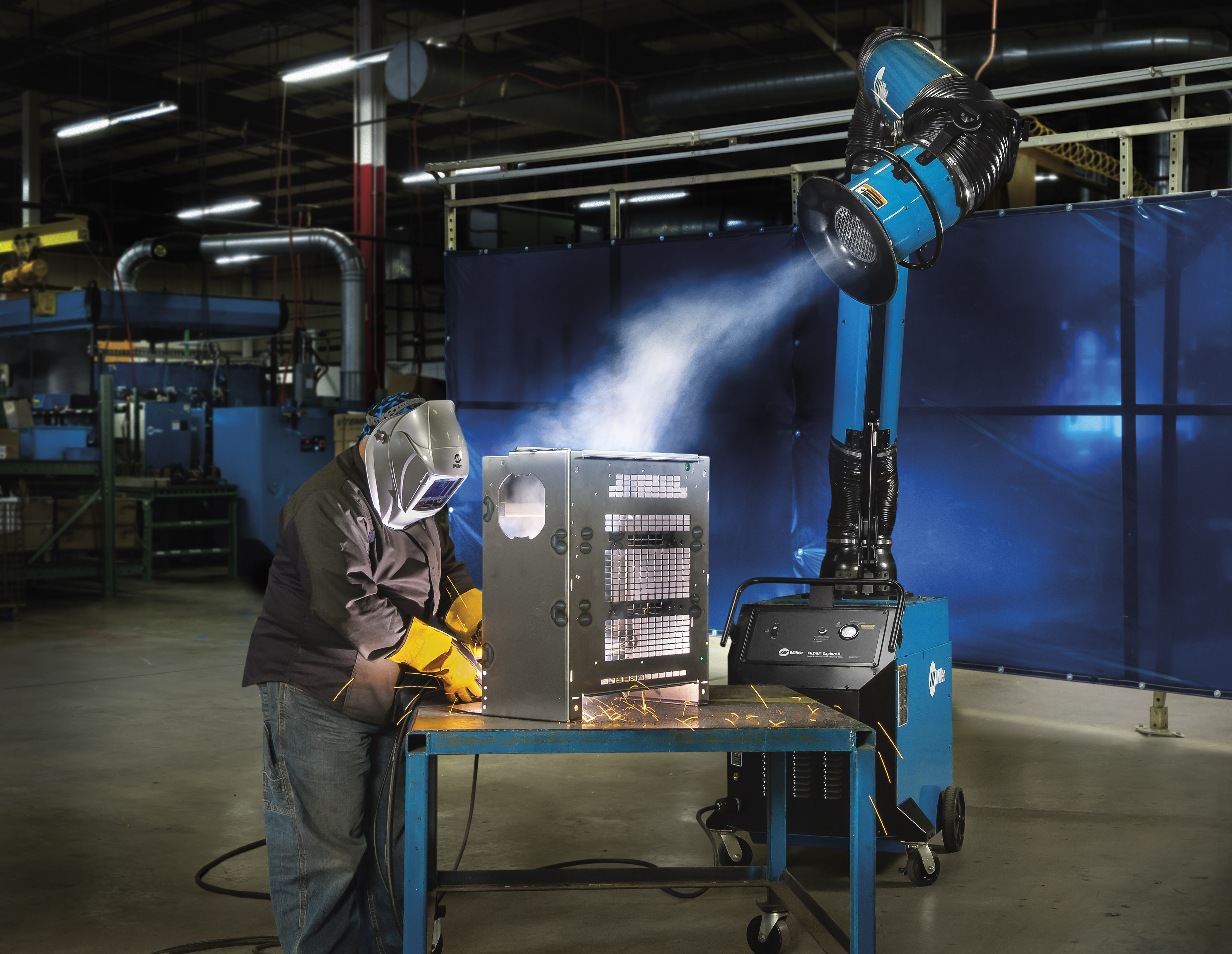 Welding Fume Extraction Systems : New technology expands work envelope when using fume