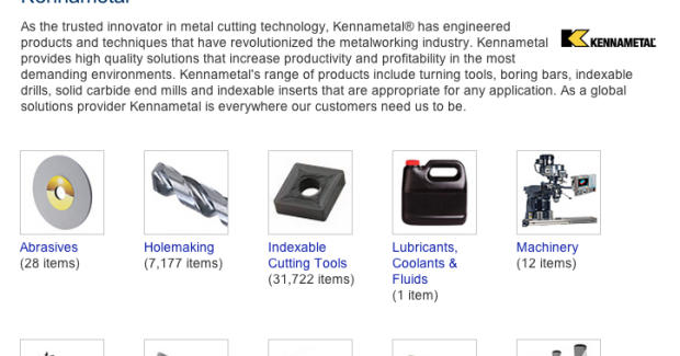 MSC customers gain fast, easy access to almost all of Kennametal's innovative metalworking product portfolio, which ranges from milling and turning solutions, to holemaking, threading and tooling systems products.