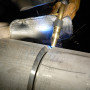 With a pulsed or advanced short circuit process, solid and metal-cored wires can be used to weld from the root to cap passes on thicker-walled pipe, even out of position.