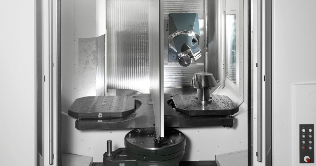 The CP 8000 5-axis mill-turn center from Heller Machine Tools is ideal for machining predominantly cubic parts, particularly when the rotationally symmetric length/diameter ratio of the components is less than 1.