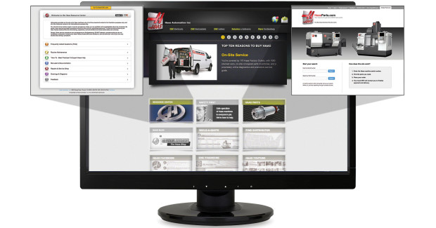The online resource center is a one-stop shop for valuable information about the care and maintenance of Haas machines.