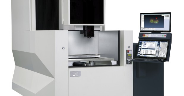 The U3 and U6 (shown here) offer X-, Y- and Z-axis travels of 370 mm x 270 mm x 220 mm and 650 mm x 450 mm x 420 mm, respectively. The U3 accommodates a maximum workpiece size of 770 mm x 590 mm x 220mm with a payload of 1,322 lb, while the U6 holds sizes up to 1,000 mm x 800 mm x 400mm with a maximum payload of 3,307 lb.