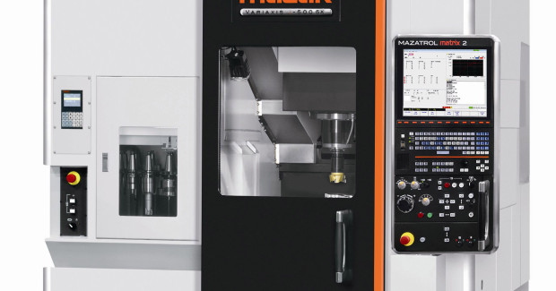 The VARIAXIS j-500 5X comes standard equipped with a 12,000 rpm, 15 hp, CAT 40 milling spindle, with a high-speed 18,000 rpm spindle available as an option. An 18 tool magazine provides fast tool changes to keep spindles in the cut and reduce cycle times. Unlike other vertical machining centers, the VARIAXIS j-500 5X changes tools without having to return its table to the home position, thus further reducing cycle times.