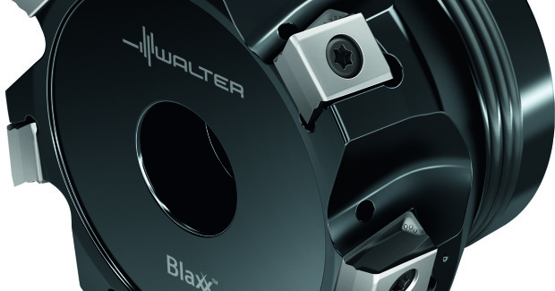 Figure 10. Blaxx™ shoulder mills, such as the Blaxx F5141 model shown here, are available with diameters starting at 25 mm. The higher density design enables up to 30 per cent higher feed rates.