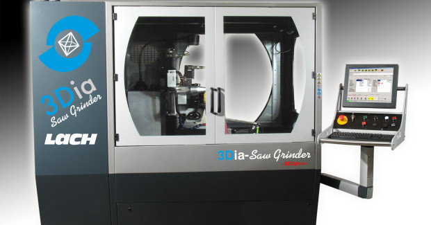 The 3Dia-Saw Grinder from Lach Diamond is designed for multiple manufacturing in one spindle operation.