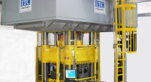 The multi-channel closed loop control system on the Hydroforming Press from Interlaken is easily programmed to handle various sizes and materials. It also offers dynamic mode switching which enables the user to switch between a variety of feedbacks such as force, position, internal pressure and other system variables.