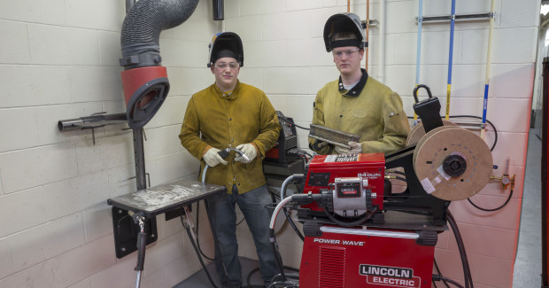 The 4,000 sq ft welding lab features 55 new Lincoln Electric welding stations, bringing the college's total welding lab space to approximately 8,000 sq ft with 93 welding stations.