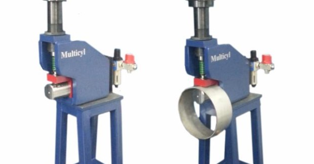 The mandrel on Multicyl Projection Mandrel punching stations is projected outwards from the base of the tool which leaves the space underneath open to accommodate the part, making it easy to punch different diameters of tubing.