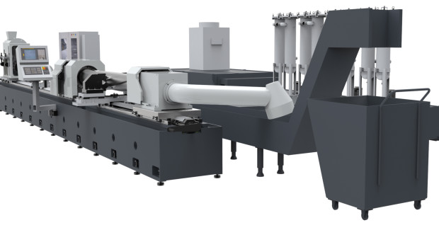 The SBN300/1-600 skiving and roller burnishing machine from Precihole can achieve feed rates of up to 2,500 mm/min (100 ipm) during processing. Bore tolerances of IT7-IT8 and a surface finish as fine as 4 to 6 Ra micro-inches are possible. Multiple self-centering vices are provided for support for longer tube applications.