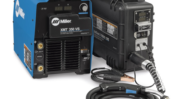The XMT 350 WCC offers 350 amps at 60 percent duty cycle in a portable package.