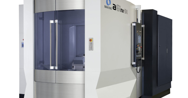 The a61nx-5E differentiates from other similar 5-axis horizontal platforms through its innovative pallet-change system, advanced twin-direct-drive rotary table design, and availability of a high-power 24,000 rpm spindle. The result is a highly productive, right-sized solution that can provide up to 310 cu in of metal removal per minute.