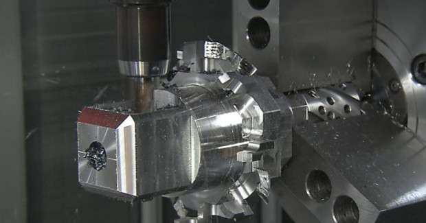 9-axis machining at BSLI. The shop specializes in the power generation and oil and gas industries and focuses on the top 5 percent of complex, difficult to manufacture parts.