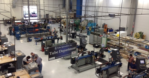 The Tube Specialties shop in Tempe employs 97 employees in tube fabrication and assembly, including bending, end forming, machining, welding, brazing, swaging and non-destructive testing for tube assemblies.
