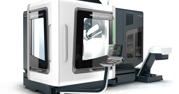The 4th Generation DMU 80 P duoBLOCK® from DMG MORI provides 5-axis machining at the highest level with outstanding performance features.