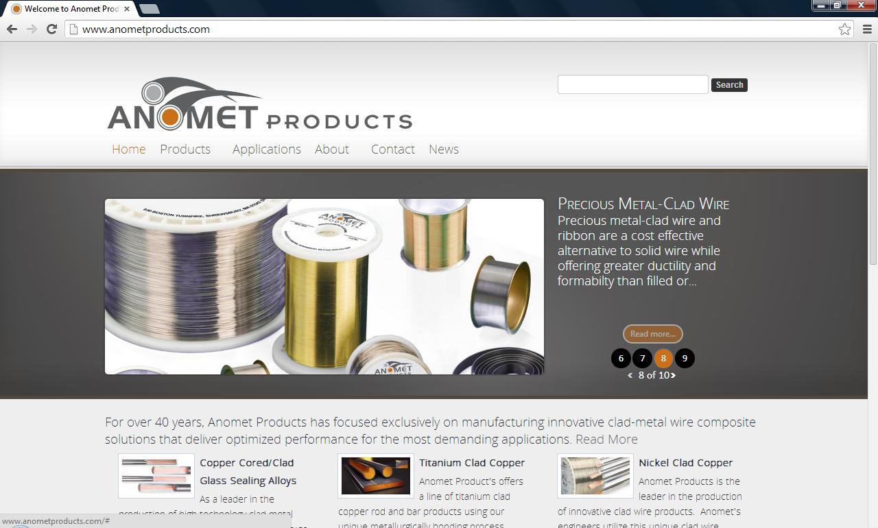 Anomet Upgrades Clad-Metal Products Website