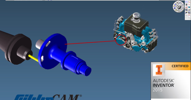 GibbsCAM directly opens Autodesk Inventor part models, allowing CNC programmers and machinists to easily and readily program machine tools from the models, extending cost reduction and efficiency through the programming and machining processes.