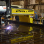 Chart uses its new heavy-duty plasma shape cutting machine to process a wide range of material thicknesses and sheet sizes ranging from 6 in x 6 in up to 10 ft wide x 40 ft long, cutting carbon steel up to 4 in thick, and processing aluminum and stainless steel in thicknesses up to 3 in.