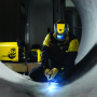 Warrior from ESAB is a versatile, rugged machine suitable for a wide range of applications in unlimited industries from ship building, rail cars and maintenance, to energy generation, construction, pipeline, and general welding fabrication. (first view)